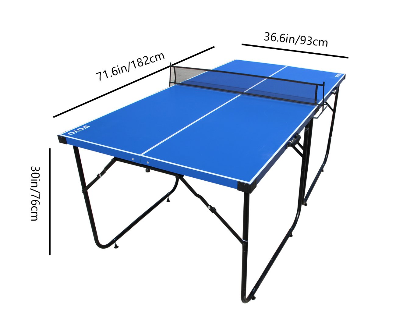 Great Amazon.com : IFOYO Table Tennis Table, 6ft Midsize Ping Pong Table 4 Piece  Folding Portable Indoor Tennis Table With Net Set For Adults, Kids, ...