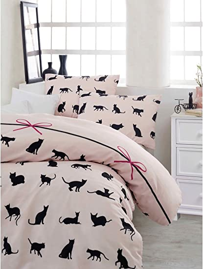 Genial Comforter Set Single Twin Full Size Cats Theme Bedding Linens Quilt Doona  Cover Sheets (Single