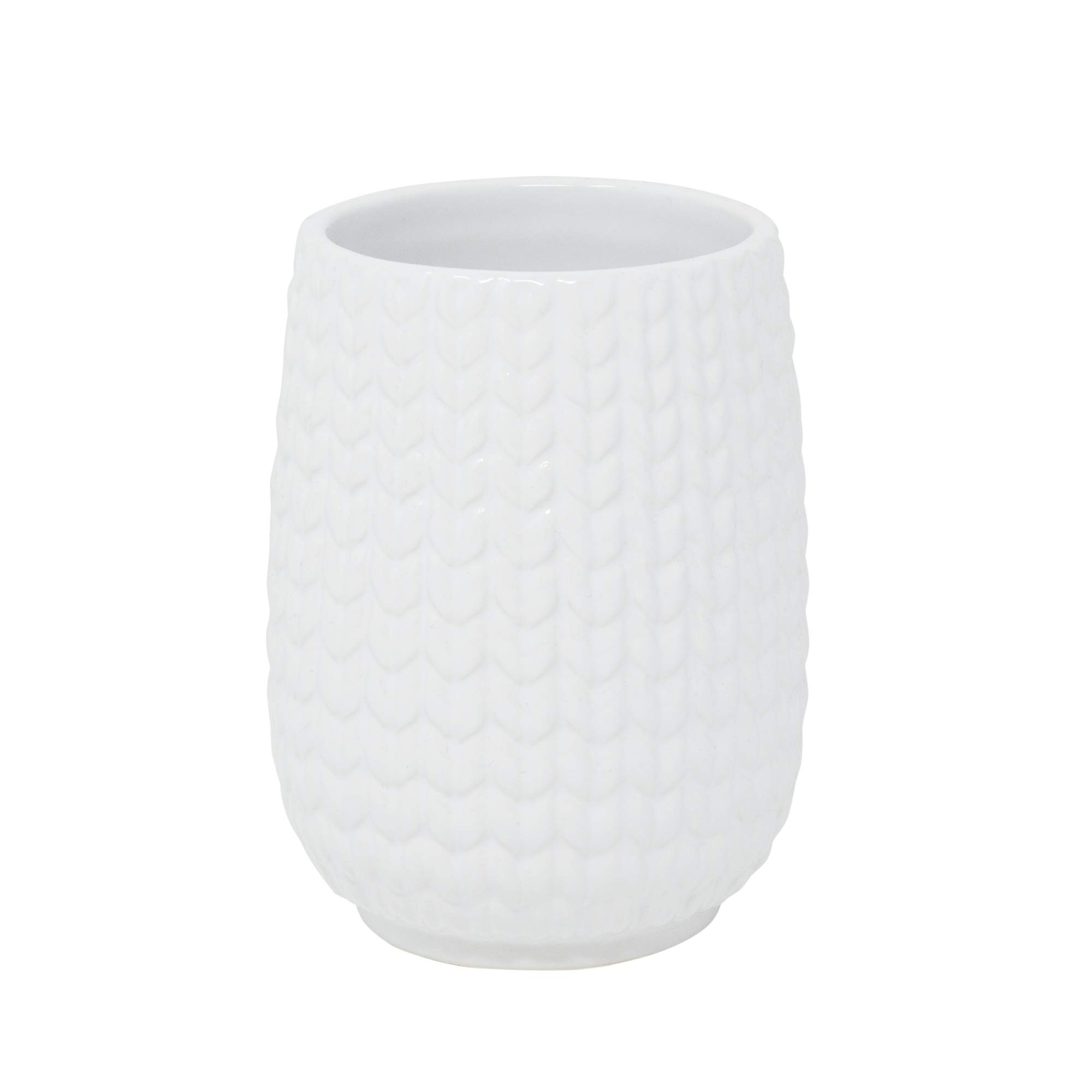 Croscill Juno Bath Tumbler, White by Croscill