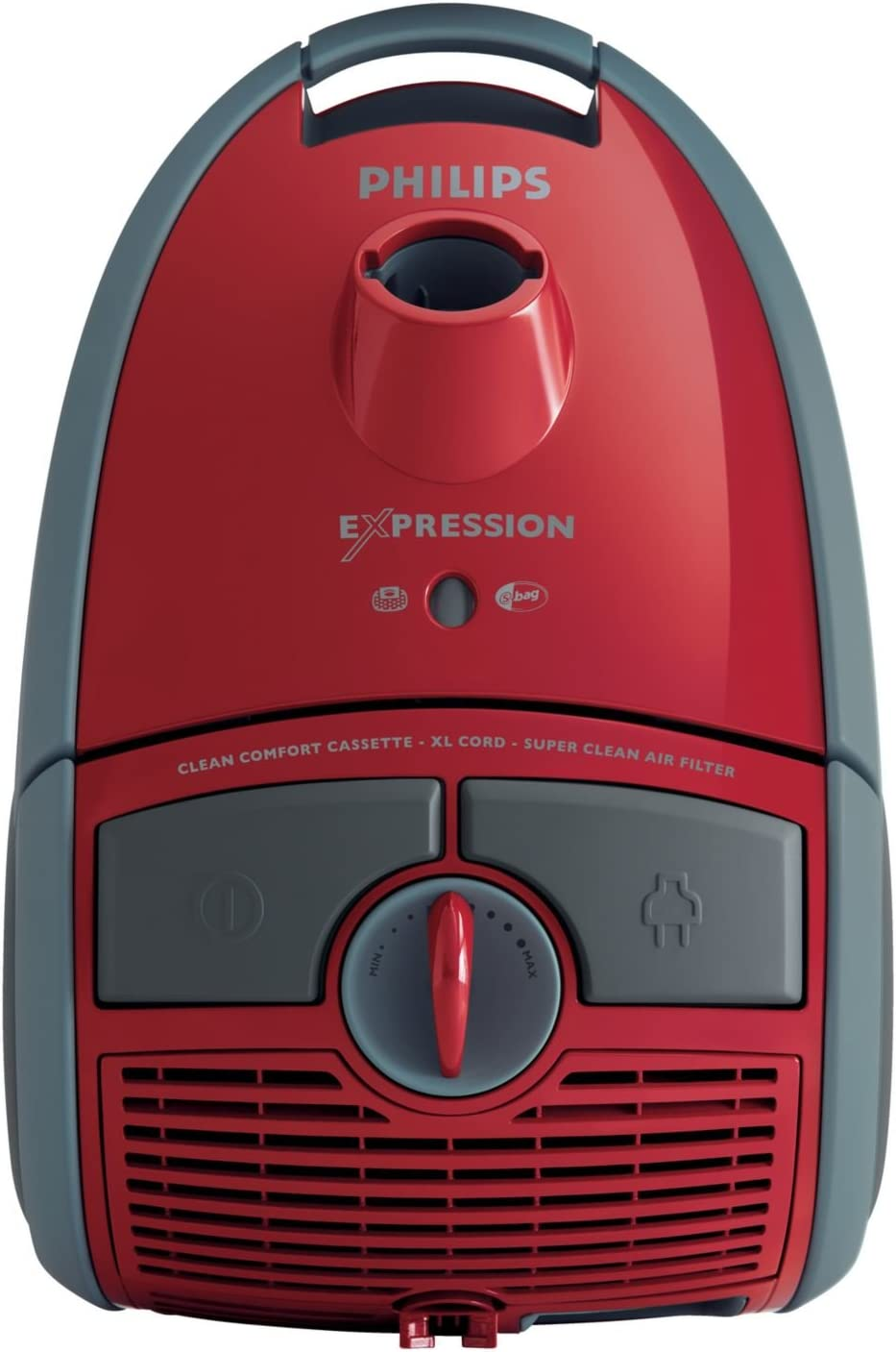 Philips Expression FC8615/01 - Aspiradora (Aspiradora cilíndrica, Rojo, Metal, Bolsa para el polvo, Telescópico, Caucho): Amazon.es: Hogar