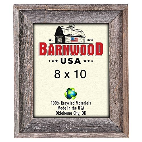 Wood Frame Distressed (BarnwoodUSA Rustic 8x10 Inch Signature Picture Frame - 100% Reclaimed Wood, Weathered Gray)