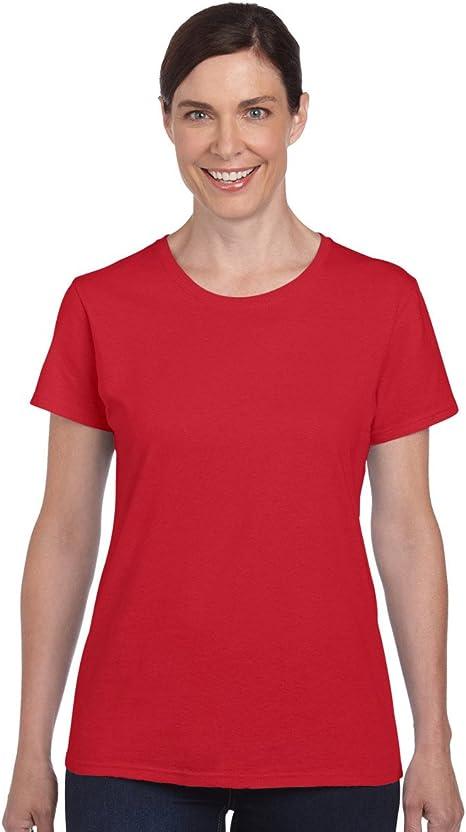 Image of Gildan- Camiseta Missy de algodón grueso de manga corta para chica/mujer