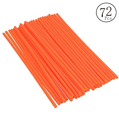 DIXIUZA 72Pcs/Lot Spoke Skin Covers, Universal Protective Wheel Coil Wraps for Motorcycle Off-Road SUV Bicycle (Orange): Automotive