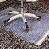 Chair Mat Carpet Floors Protection High Pile Carpets | 3mm Thick PVC | Studded Backing Have Lip,90x120cm(35.4''x47'')-StuddedBacking