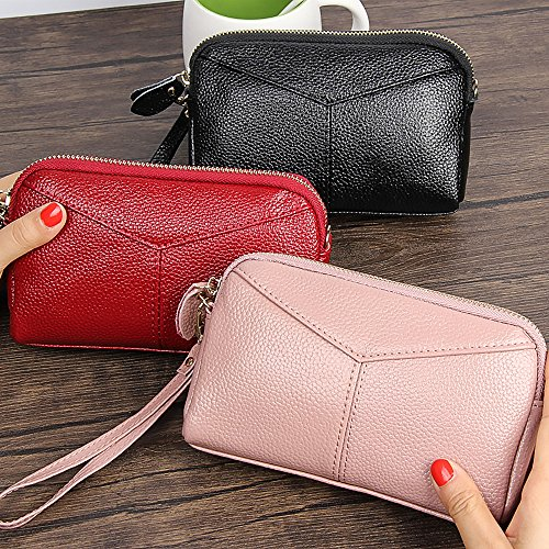 Phone Large Wristlet Removable Purse Clutch Women Strap Capacity Cash Grey Coin Pouch with Yn4fnwqSd