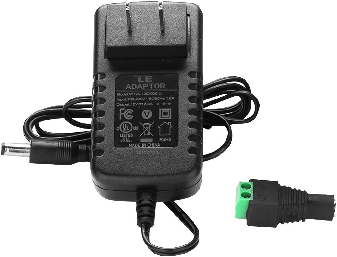 6V DC 500ma AC Adapter Power Supply Wire Leads w// Clips 6 Volt 1//2A .5A Amp VDC