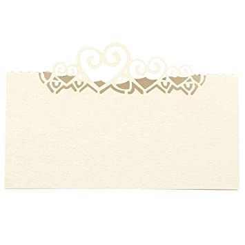 Sodial 25 Tischtabellen Fuer Hochzeitskarten Herz Nummer Tischkarten
