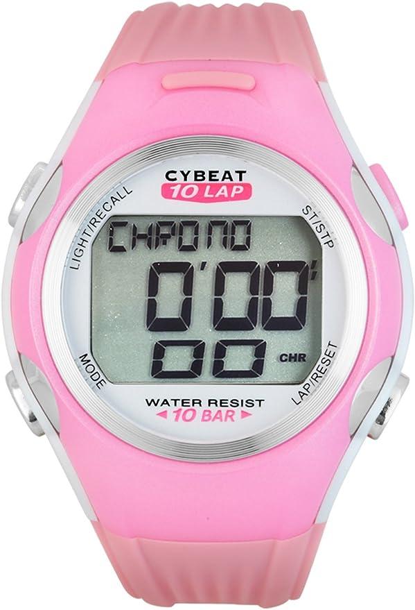 [J-アクシス] 腕時計 サイビート 10気圧防水 10ラップ計測 ランニング スポーツ CST-04-PI ピンク
