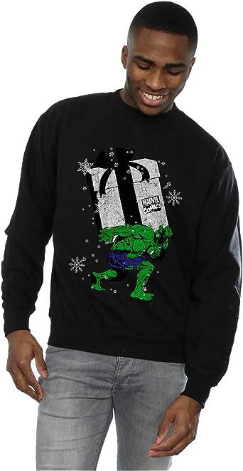 MARVEL Boys Santa Hulk Sweatshirt