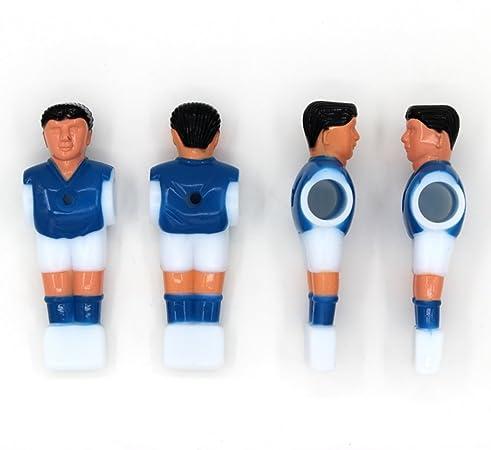 STOBOK Recambio para Jugadores de Fútbol Masculino de Futbolín para Mesa de Fútbol de 1.4M (2pcs Rojo y 2pcs Azul) 4 Piezas: Amazon.es: Hogar