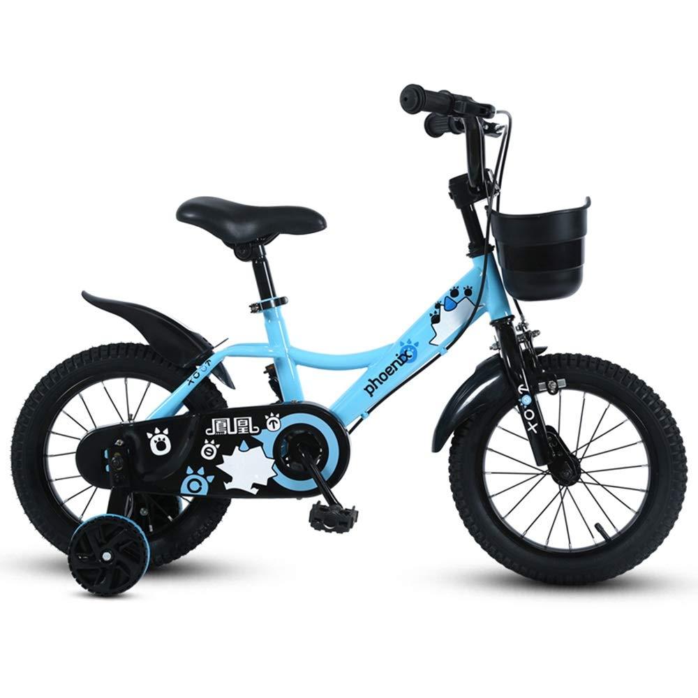 aquí tiene la última azul 12in Axdwfd Infantiles Bicicletas Bicicleta para niños niños niños de 12 14 16 18 Pulgadas con Ruedas de Entrenamiento, Bicicleta para niños de 2 a 9 años de Edad, Ciclismo, Azul, Rojo, Amarillo  tienda en linea