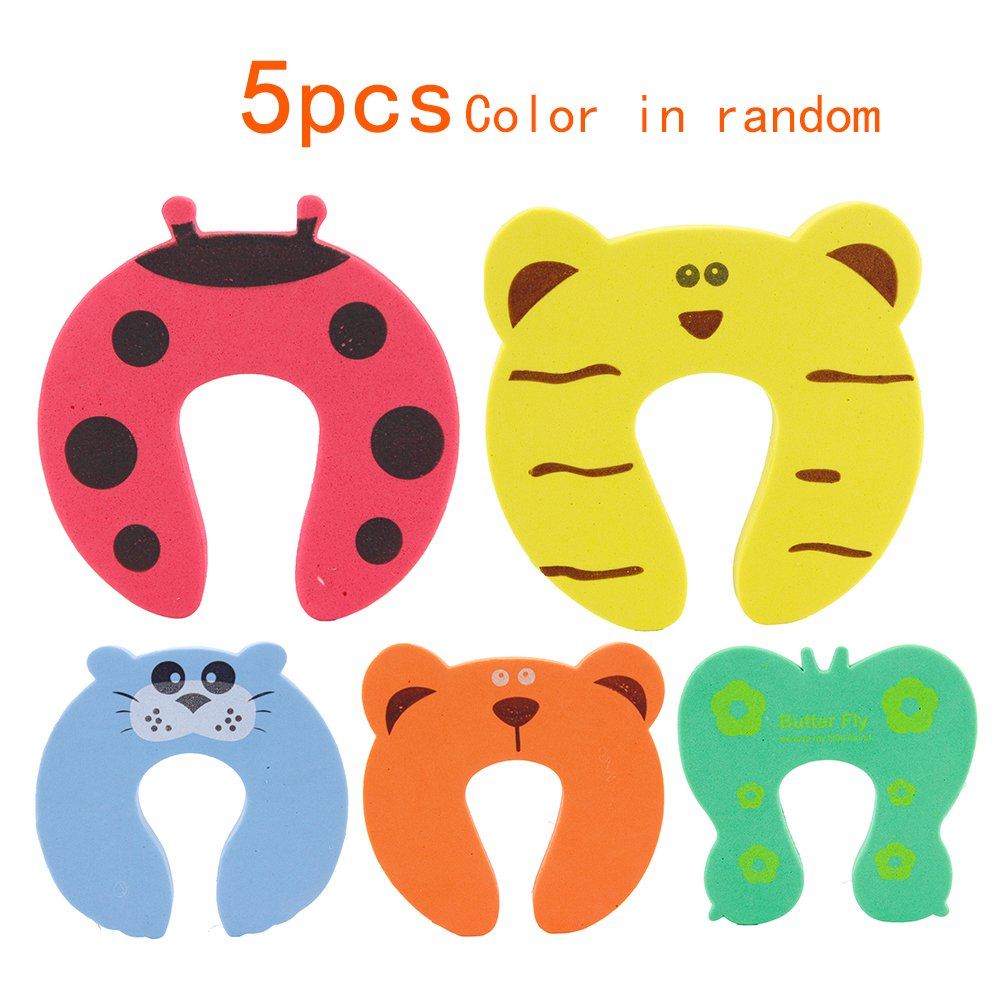 Sealive Colorful Cartoon Animal Cushion - Ramdom Bundled Baby Child Kid Cushiony Finger Hand Safety door stopper