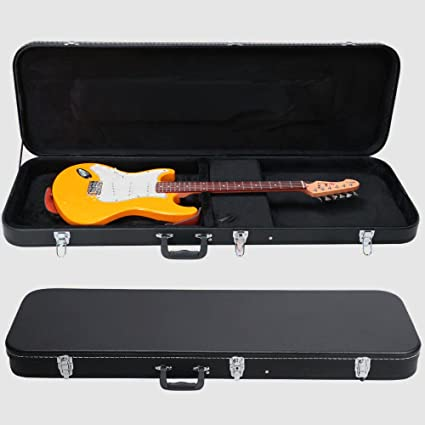 059c5bad32 Amazon.com: Traveling Guitar Case Electric Bass Hard Case Small Portable  Guitar Locking Carrying Case Strat Style & e Book by AllTim3Shopping.
