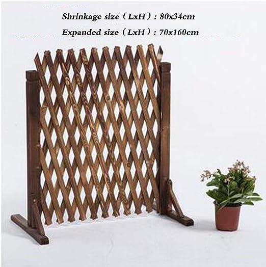 TH26 Cerca del jardín de Pantalla decoración del jardín de Planta trepadora Plataforma Extensible carbonización Resistente a la corrosión, 4 tamaños (Color : Brown, Size : 180X150CM): Amazon.es: Jardín