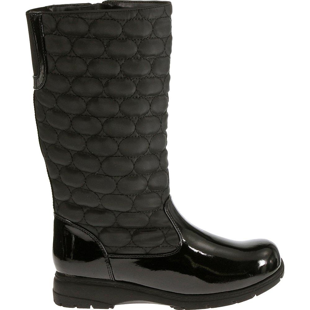 Soft Style by Hush Puppies Women's Paris Boot, Black Vylon/Patent, 10 M US