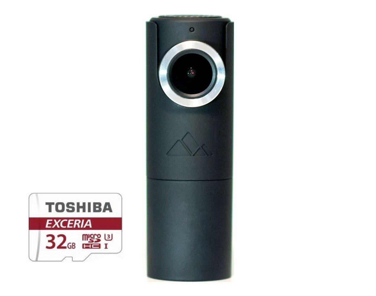 GOLUK T3 in CHARCOAL BLACK compact full HD car dash cam WiFi Full HD 1080P G-sensor Low light vision 32Gb SD card Included