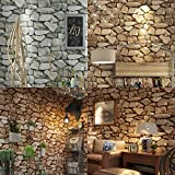 MonkeyJack 6 Rolls Waterproof Self-Adhesive Wall Sticker Rocks Stone Pattern Peel-Stick Wall Murals Door Stickers Counter Top 10M