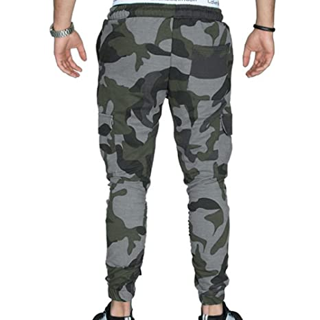 MOVERV Pantalones de Camuflaje Militar Chándal Apretado ...