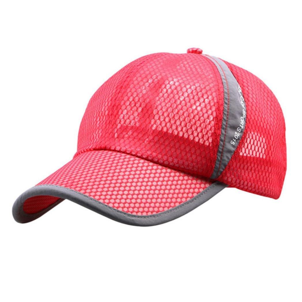 b0332aea87b1d3 Solike Sommer Breathable Mesh Baseballmütze Baseball Tennis Laufen Golf Cap  Sonne Sport kappe Männer Frauen Outdoor Aktivitäten Caps (Blau): Amazon.de:  ...