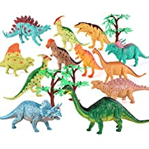 Plastic Dinosaur Figure, Glonova 7 Inch Jumbo Dinosaur Toy Playset (12 pack), Safe Material Assorted Realistic Dinosaur Toys For Kids Toddlers Educational, Party
