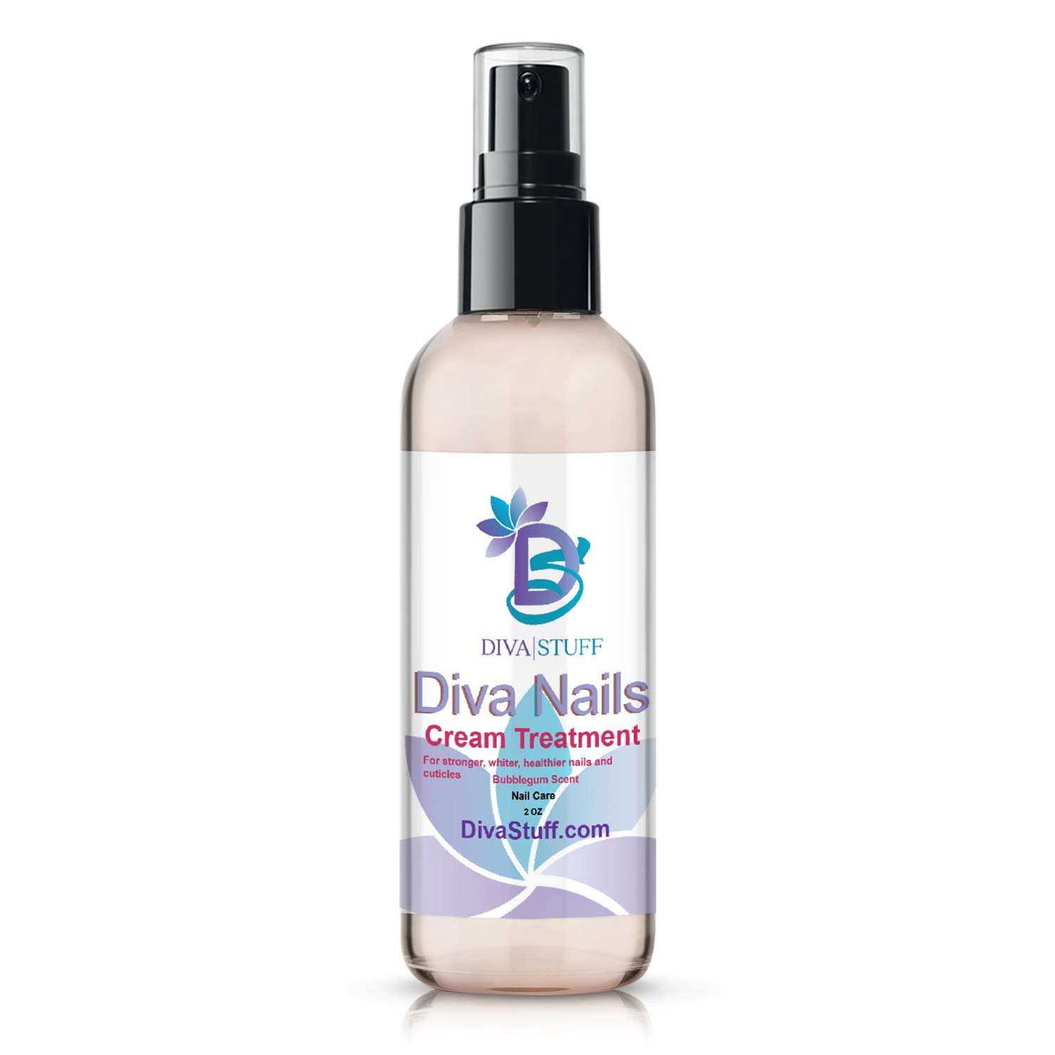 Diva Stuff Diva Nails Cream Treatment | For Stronger & Healthier Cuticles | No More Chips, Cracks & Splits | Made in the USA with Safe Ingredients | Blue Bubblegum Scent | 2 fl oz