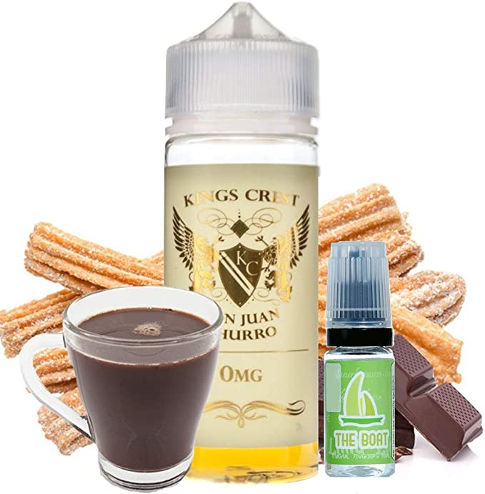 E Liquid Kings Crest Don Juan Churro 100ml - 70vg 30pg - shortfill + ELiquid The Boat 10 ml lima limón - Pack de 2 unidades para cigarrillo electrónico.: Amazon.es: Salud y cuidado personal