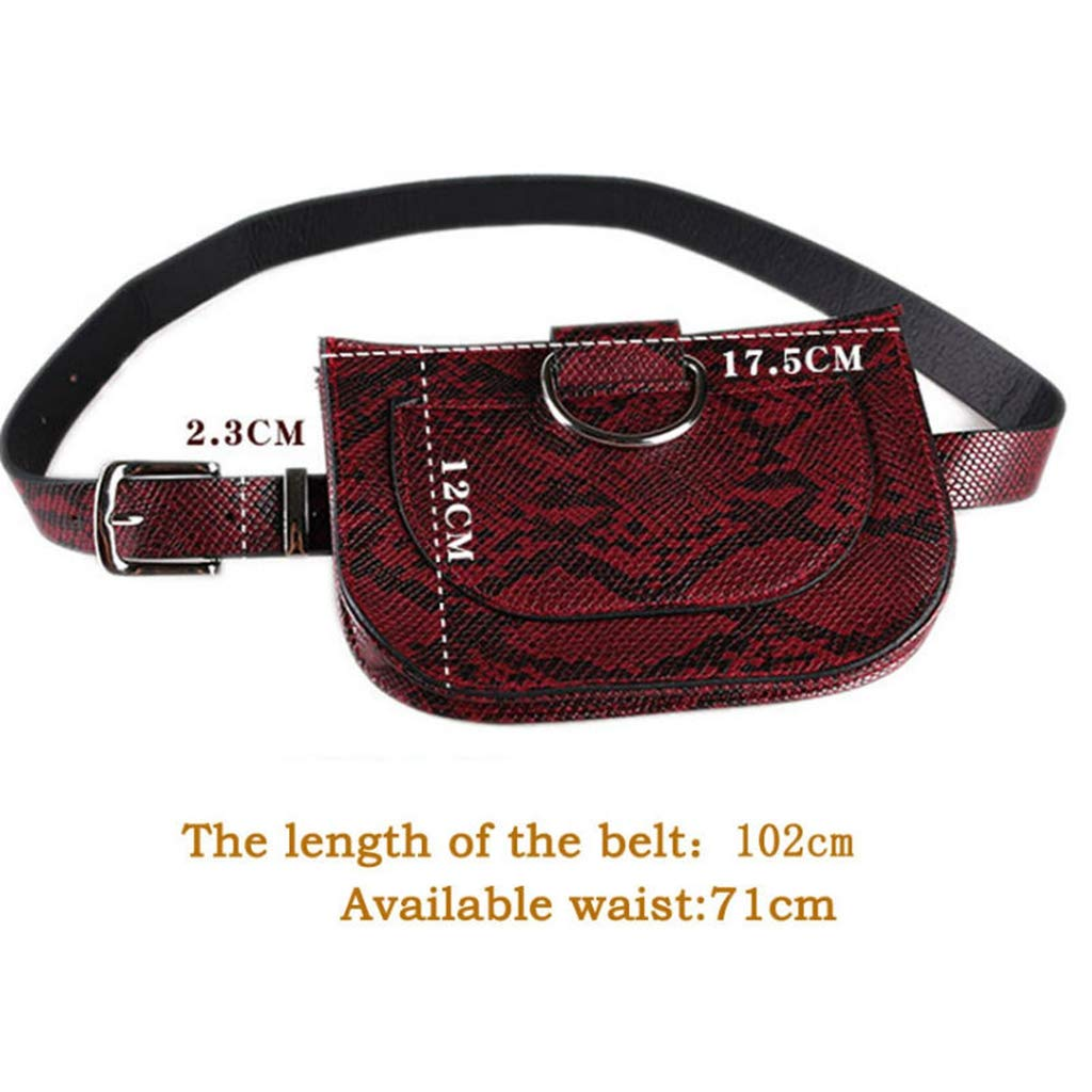 2714b876b96 Amazon.com: Multifunction Women Fashion Faux Leather Serpentine ...