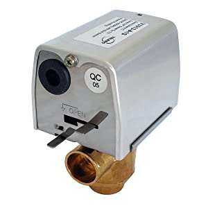 """Valemo V3313-A1S Motorized Zone Valve, 3-Way, 3/4"""" Sweat, Normally Closed, 24 VAC with End Switch"""
