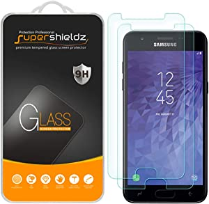 (2 Pack) Supershieldz for Samsung (Galaxy J3 Orbit) Tempered Glass Screen Protector, Anti Scratch, Bubble Free