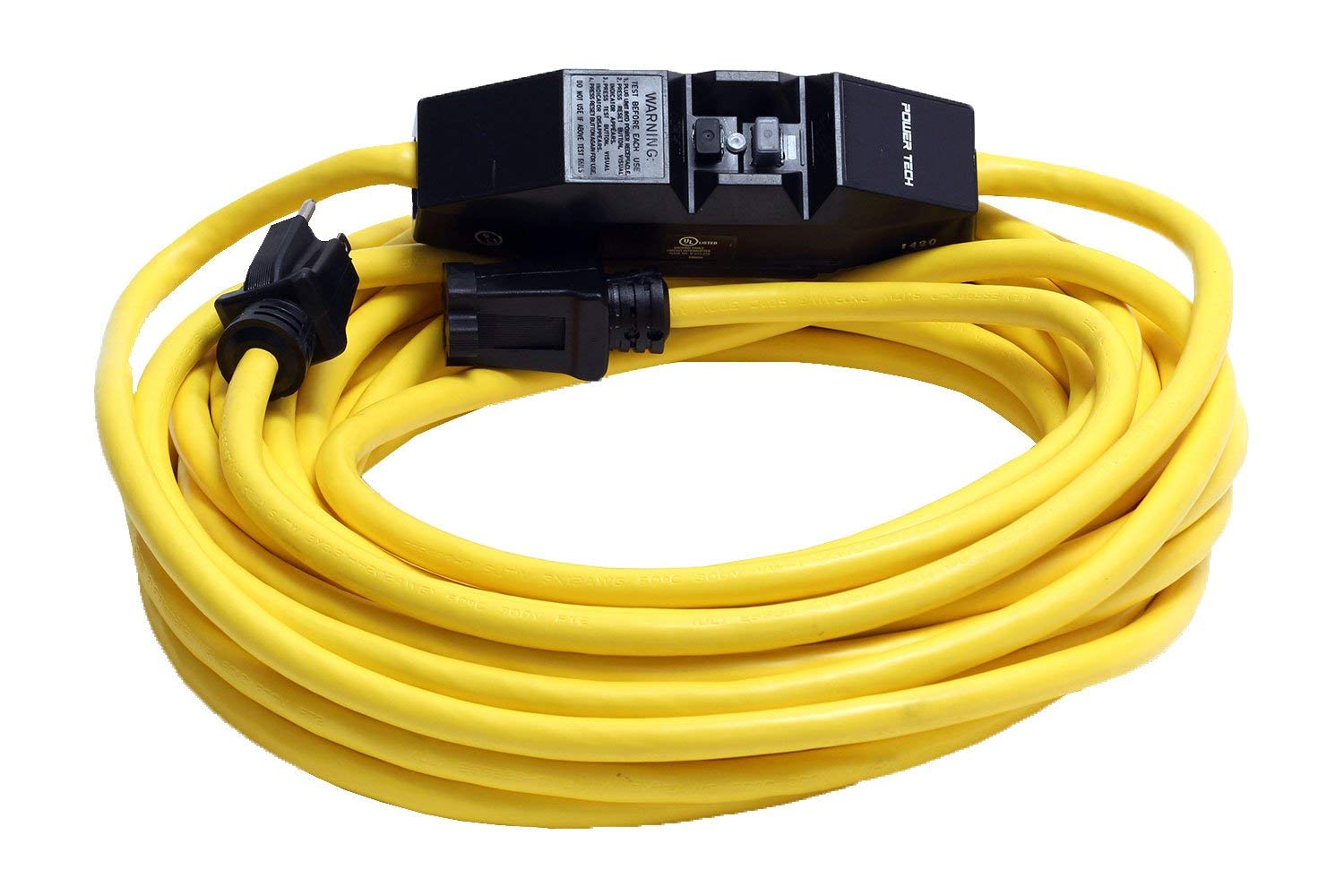 50 Foot 12 3 Gfci Ground Fault Circuit Interrupter Extension Cord Gfi Outlet The Detects Your Name Printed On