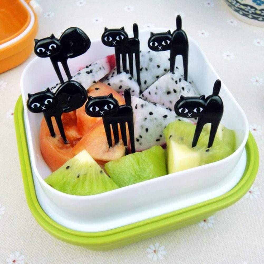 20 St/ück Obstgabeln Kreative Cartoon Mini Zahnstocher Kinder Snack Bento Mittagessen Vorspeise Kuchen Dessert Lebensmittel Party Gabel Decor Tool Augen