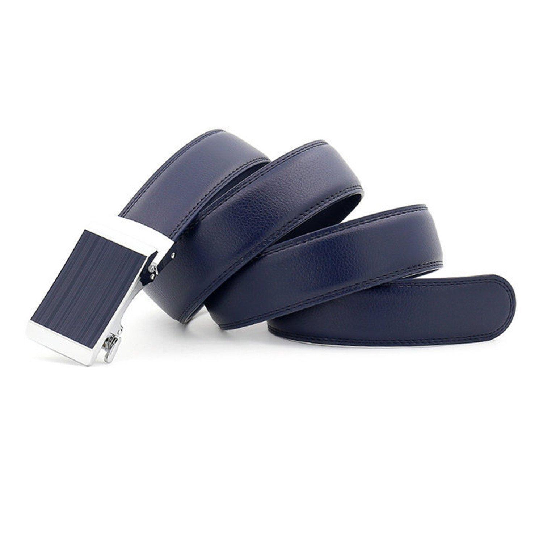 LOKOUO Great fashion new Mens automatic buckle black//blue belt Designer Belts Men Leather Belt Luxury