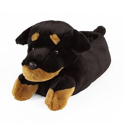 Amazon.com | AnimalSlippers.com Rottweiler Slippers - Plush Dog Animal Slippers, Black & Tan, 9-12 | Slippers