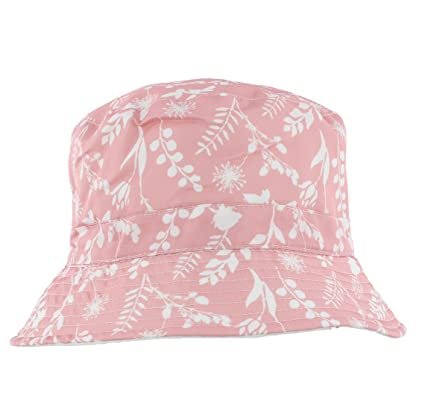 a17139c2d46 The Hat Company Ladies Summer Floral Bucket Hat Pale Blue or Pink (A1389)   Amazon.co.uk  Clothing