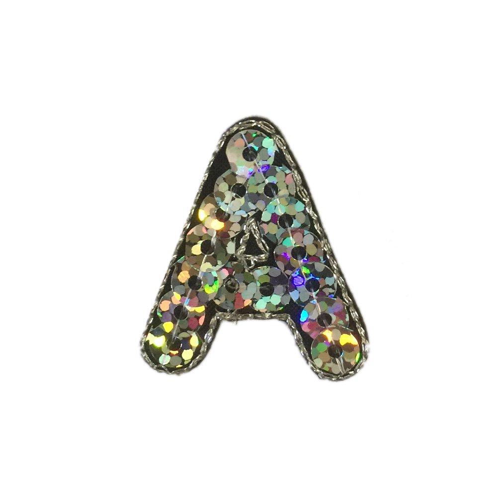 Letra de alfabeto, parche para planchar a la ropa, vaqueros, etc.; se puede planchar o coser (26 letras, 3 cm) small A Shoulashou