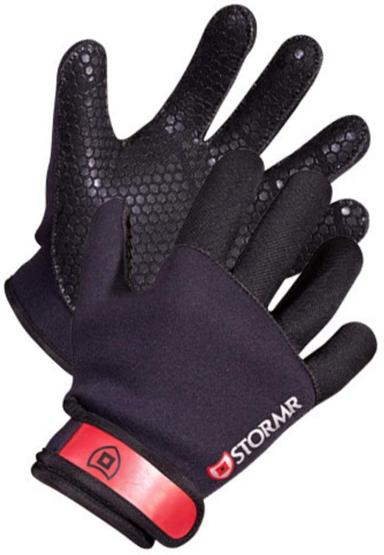Stormr Strykr 2mm Neoprene Women and Men's Glove - Fully Lined Micro-Fleece Gloves with Adjustable Wrist Closures - Ideal for Ice Fishing, Winter Conditions, and Foul Weather, L