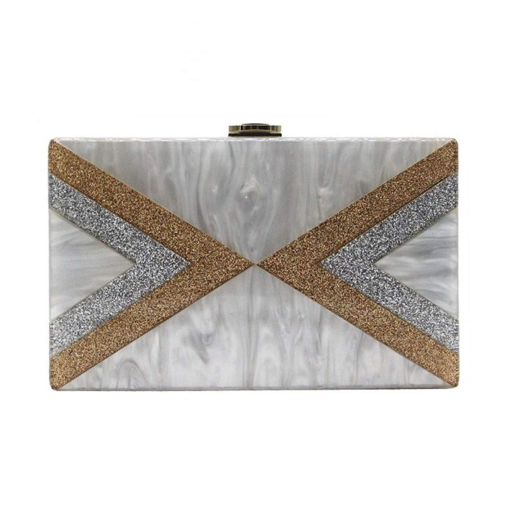 GSYDXKB Shoulder Bag Bag New Wallet Shoulder Messenger Bag Lady Sequins Pearl Acrylic Bag Banquet Clutch