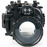 Sea Frogs Fujifilm X-T1 用 水中カメラケース アンダーウォーターハウジング 防水性能40m 防水プロテクター 防水ケース 防水ハウジング 保護ケース 防水プロテクター 水中撮影用 国際防水等級IPX8 ブラック