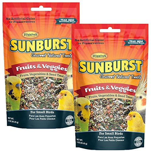 Higgins Sunburst Fruits & Veggies Gourmet Treats for Small Birds (2 Pack) from Higgins Group