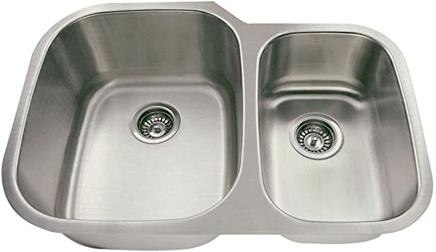 510 18-Gauge Undermount Equal Double Bowl Stainless Steel Kitchen Sink