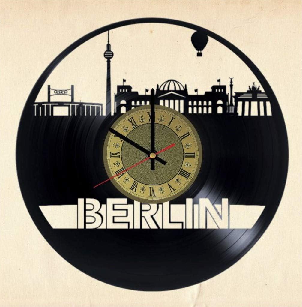 Berlin Clock Skyline Germany Cityscape Vinyl Wall Art Perfect Gift Home Decor