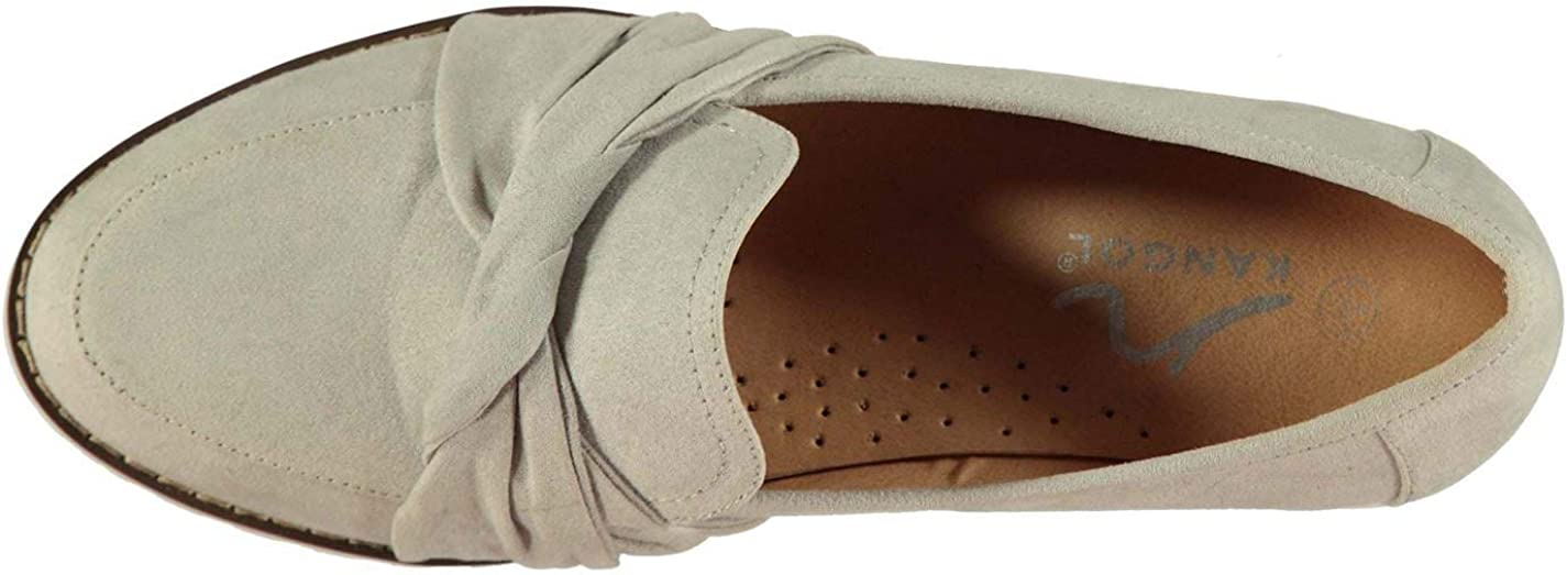 Kangol Womens Celia Loafers Flats Slip On Everyday Suede
