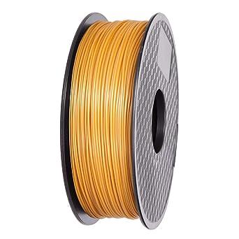 Amazon.com: Ifun 3D Filamento de impresora PLA dorado ...