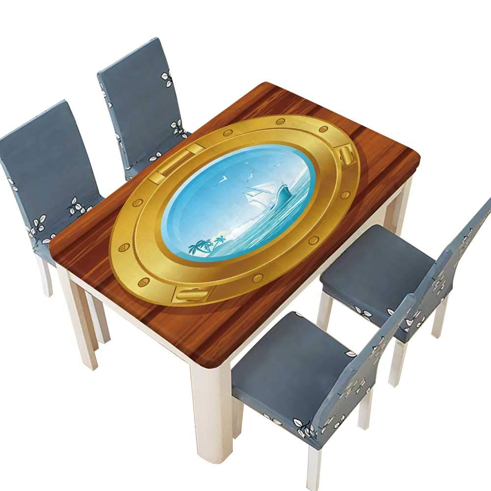 PINAFORE テーブルクロス 枝と葉のシルエット シームレス テーブルトップカバー 幅25.5 x 長さ65インチ(絶縁) W49
