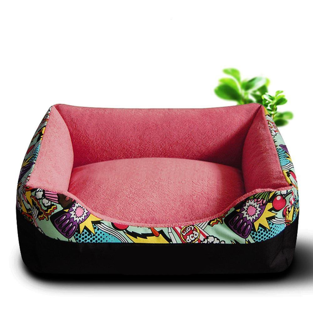 Gwanna Pet Bed for Pet Square Kennel Washable mat Warm Universal Dog Kitty Soft Pad for Pets Sleeping