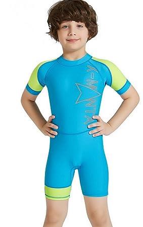 Evedaily Bañador Niño, protección UV, Einteiler Schwimmanzug ...