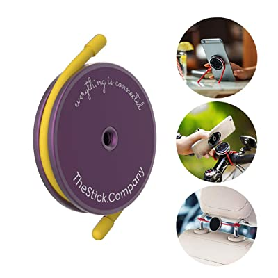 IMStick All-Purpose Phone Mount | Your Smartphone's Best Stay-Home Friend for Home Workout | Home Office | Home Entertainment | Perfect Phone Holder or Stand for Any Use - Purple