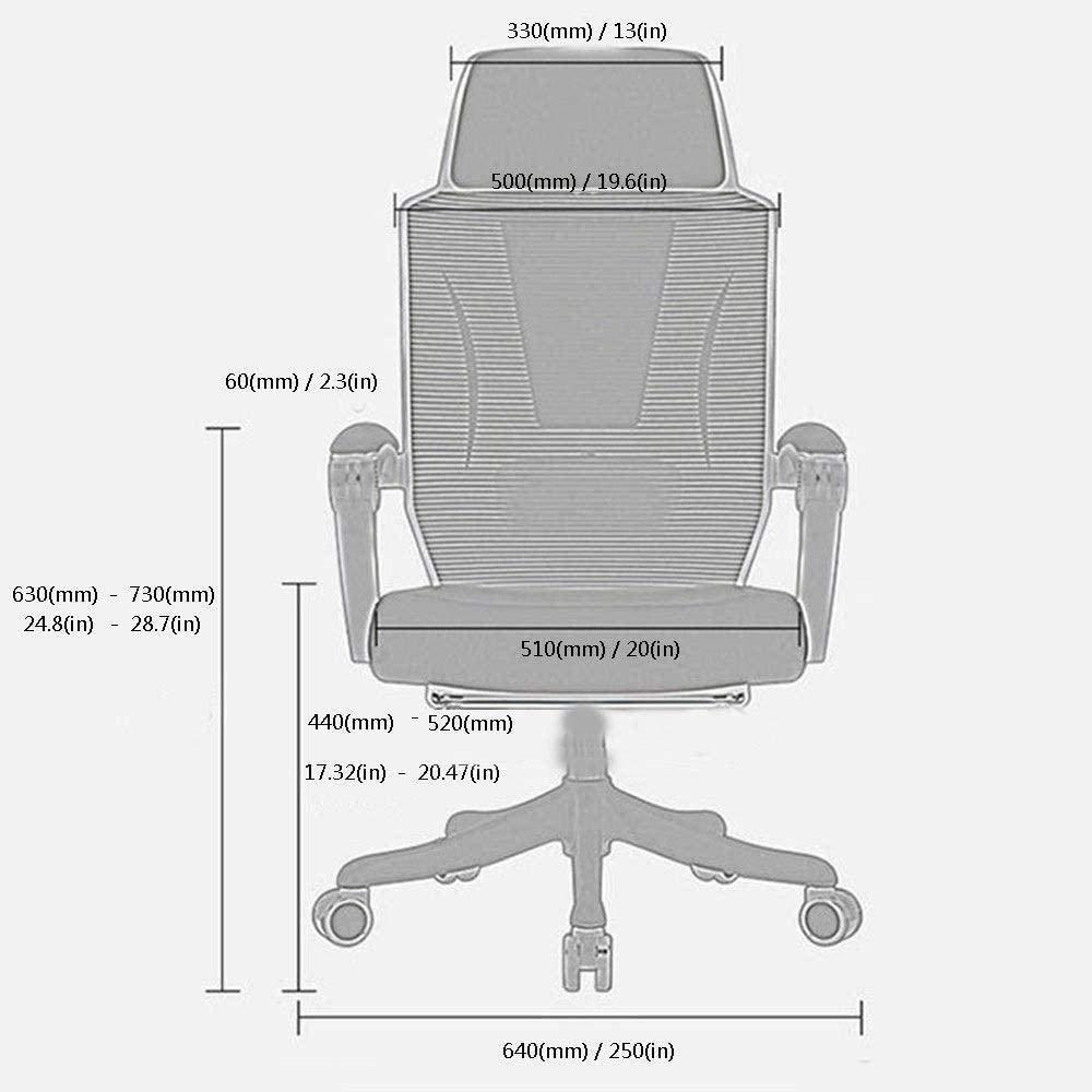 Datorstol kontorsstol hem spel nät lyftstol ergonomisk personalstol nät enkel roterande chef stol knästol (färg: svart) Vitt