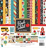 Echo Park Paper Company 1 Back to School Collection Kit Paper 12-x-12'' Blue/Black/Red/Green/Yellow