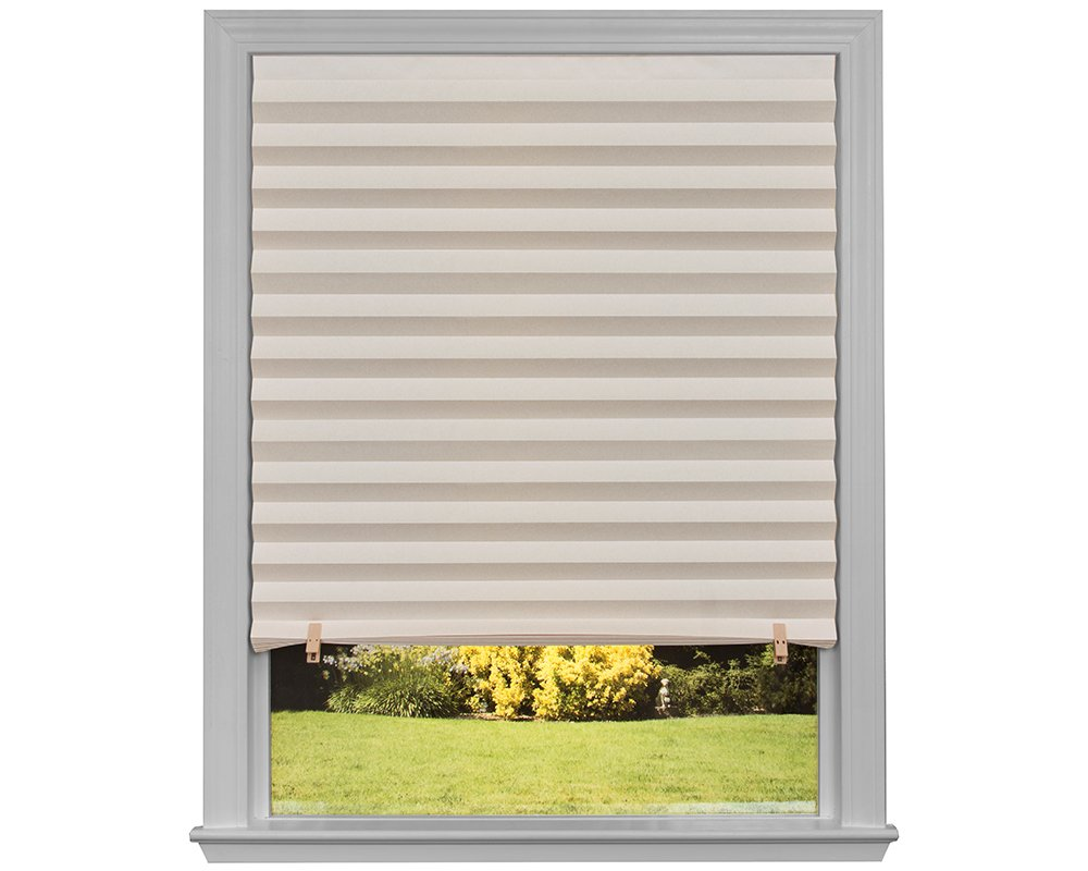 """36/"""" x 72/"""" Original Light Filtering Pleated Paper Shade White 6-Pack"""